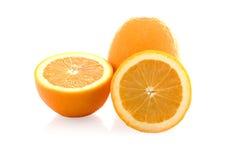 2 изолированного куска апельсина Стоковое фото RF