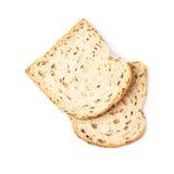 2 изолированного куска белого хлеба Стоковая Фотография RF