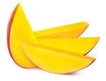 4 изолированного куска манго Стоковое Изображение