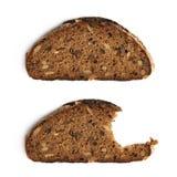 2 изолированного куска хлеба Стоковые Изображения RF