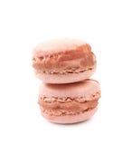 2 изолированного печенья macaron Стоковое Фото