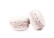 2 изолированного печенья macaron Стоковые Фото