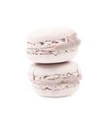 2 изолированного печенья macaron Стоковые Изображения