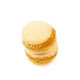 2 изолированного печенья macaron Стоковое Изображение