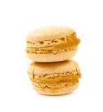 2 изолированного печенья macaron Стоковые Изображения RF