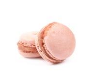 2 изолированного печенья macaron Стоковое Изображение RF