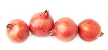 4 изолированного плодоовощ гранатового дерева Стоковые Изображения RF