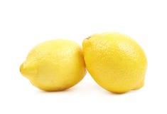 2 изолированного плодоовощ лимона Стоковое Фото