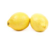 2 изолированного плодоовощ лимона Стоковое Изображение