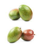 2 изолированного плодоовощ манго Стоковая Фотография