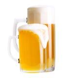 2 изолированного стекла пива Стоковое Изображение RF