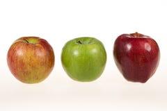 3 изолированного яблока Стоковая Фотография RF