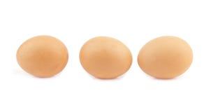 3 изолированного яичка Стоковые Изображения