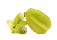 2 изолированного starfruits карамболы averrhoa Стоковые Изображения