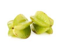 2 изолированного starfruits карамболы averrhoa Стоковая Фотография RF