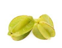 2 изолированного starfruits карамболы averrhoa Стоковые Изображения RF