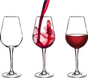 изолированное вино waite om красное стоковые фото