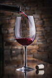 изолированное вино waite om красное Стоковое Изображение