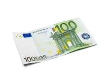 изолированное евро 100 Стоковая Фотография