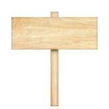 изолированное деревянное знака белое Деревянный старый знак планок Стоковые Фото