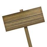 изолированное деревянное знака белое Деревянный старый знак планок Стоковая Фотография RF