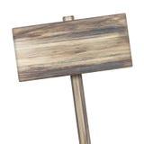 изолированное деревянное знака белое Деревянный старый знак планок Стоковые Изображения RF