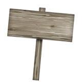 изолированное деревянное знака белое Деревянный старый знак планок Стоковое Изображение