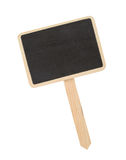 изолированное деревянное знака белое Стоковая Фотография RF