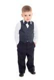 изолированное дело мальчика предпосылки меньшей белизне костюма Стоковые Изображения RF