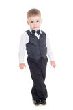 изолированное дело мальчика предпосылки меньшей белизне костюма Стоковые Изображения