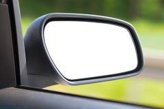 Изолированное зеркало автомобиля Стоковое фото RF