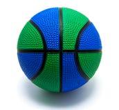 Изолированное зеленоголубое баскетбола Стоковое Фото