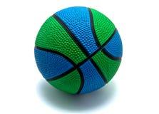 Изолированное зеленоголубое баскетбола Стоковые Изображения