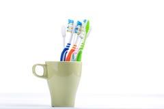 Изолированное зубоврачебное зубной щетки красочное здоровое Стоковые Фото