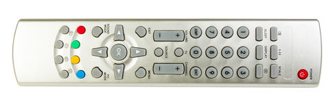 Изолированное дистанционное управление TV Стоковая Фотография RF
