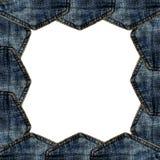 Изолированное карманн голубых джинсов границы Стоковые Фото