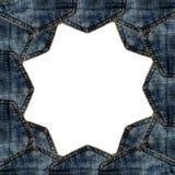 Изолированное карманн голубых джинсов границы Стоковое Изображение RF