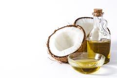 Изолированное кокосовое масло стоковая фотография