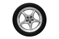 Изолированное колесо автомобиля Стоковое Изображение RF