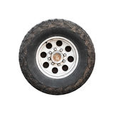Изолированное колесо автомобиля SUV, вид спереди Стоковая Фотография RF