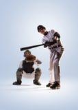 2 изолированное на белом профессиональном бейсболе Стоковые Изображения RF