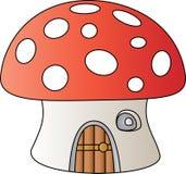 изолированное домом wtite гриба Иллюстрация штока