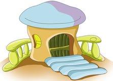 изолированное домом wtite гриба Стоковое Изображение