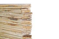 Изолированное перекрытие древесины Стоковое фото RF