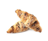 Изолированное печенье круассана шоколада Стоковая Фотография