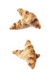Изолированное печенье круассана шоколада Стоковое Изображение RF