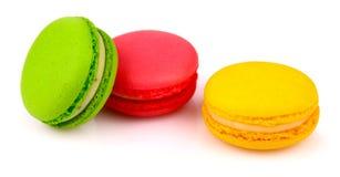 Изолированное печенье Macarons Стоковое Изображение