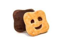изолированное печенье smiley Стоковые Фото