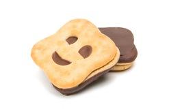 изолированное печенье smiley Стоковое Изображение