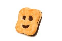 изолированное печенье smiley Стоковые Изображения RF